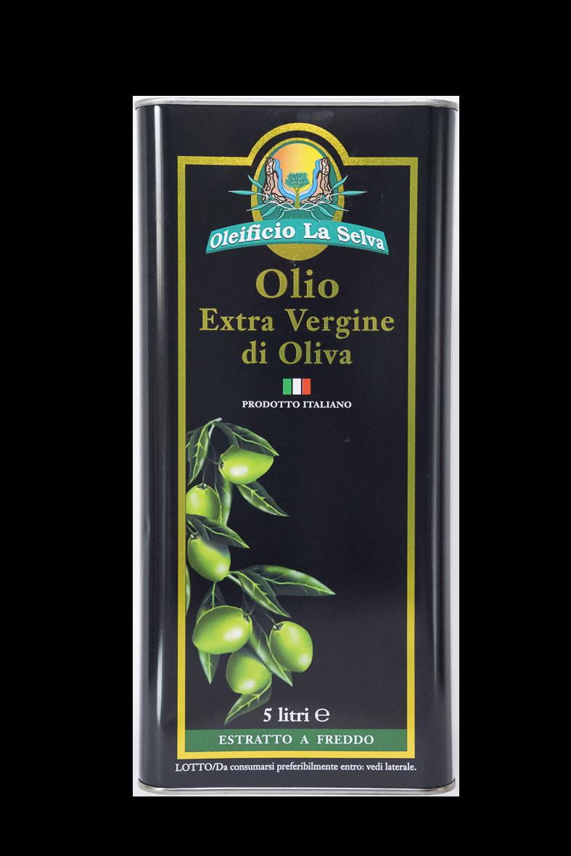 Olio Extravergine d'oliva<br>lattina da 5 litri